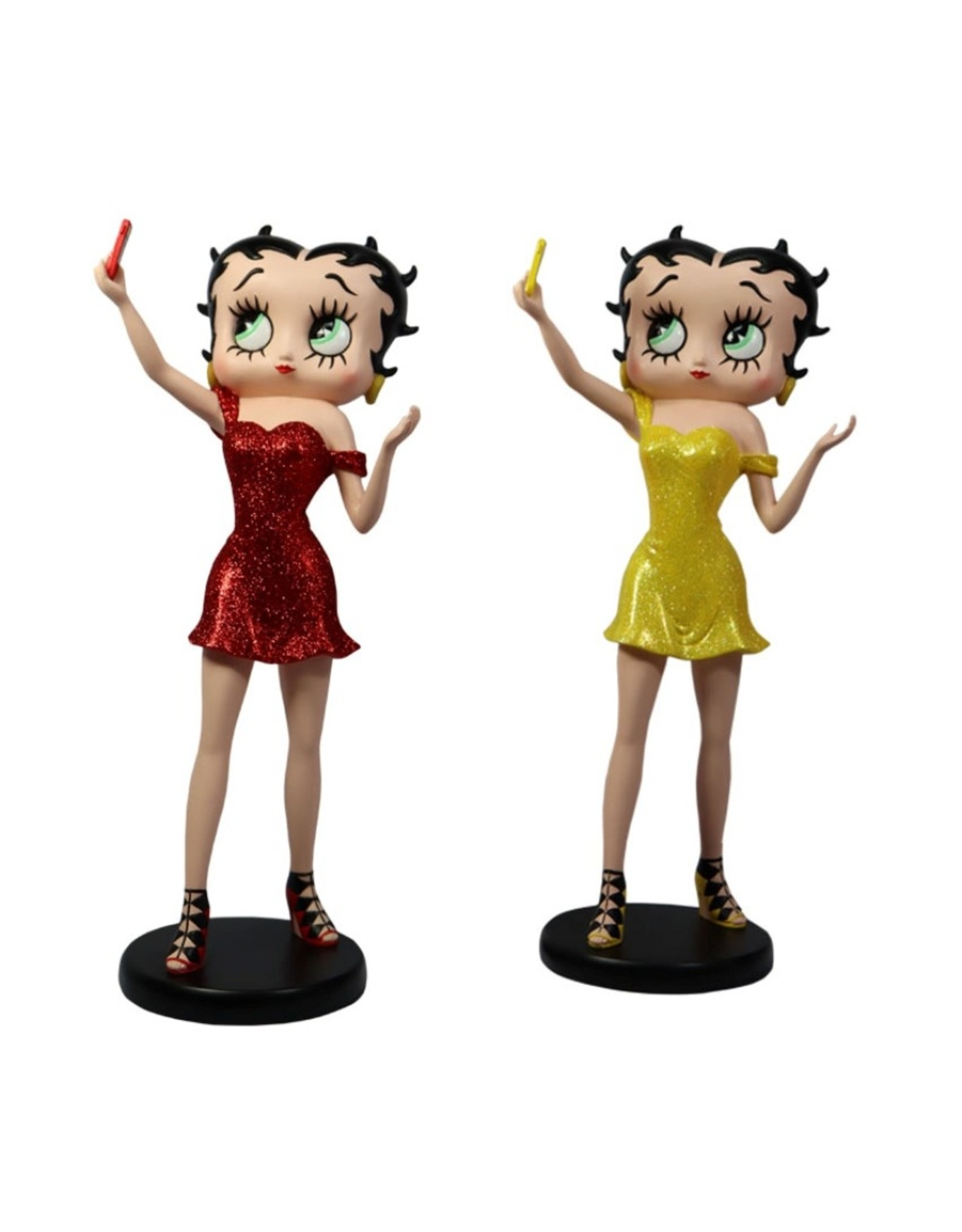 Betty Boop Betty Boop Collectables - Betty Boop Selfie Geel Glitter Limited Edition of 500