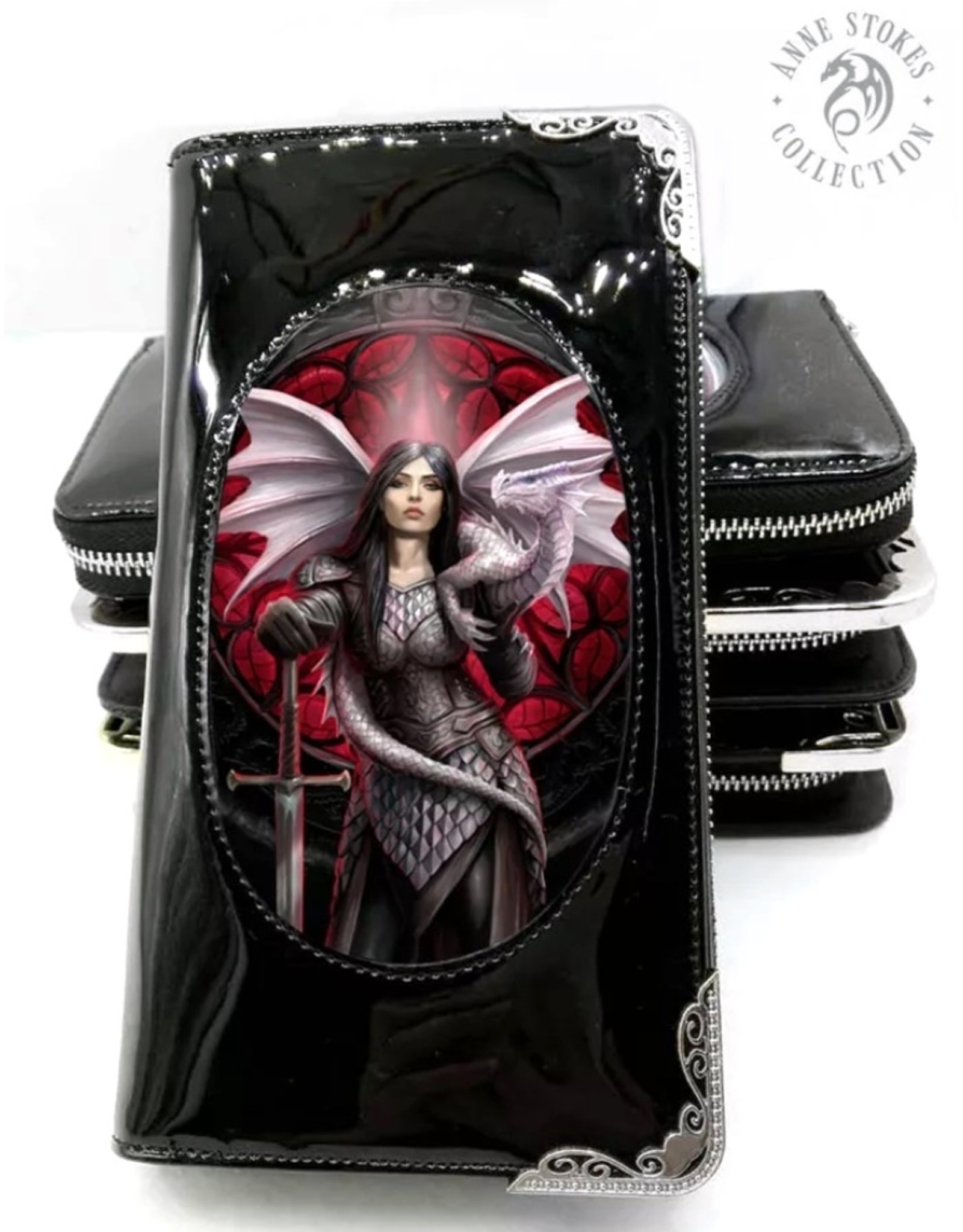 Anne Stokes Gothic wallets and purses - Anne Stokes 3D lenticular purse Valour