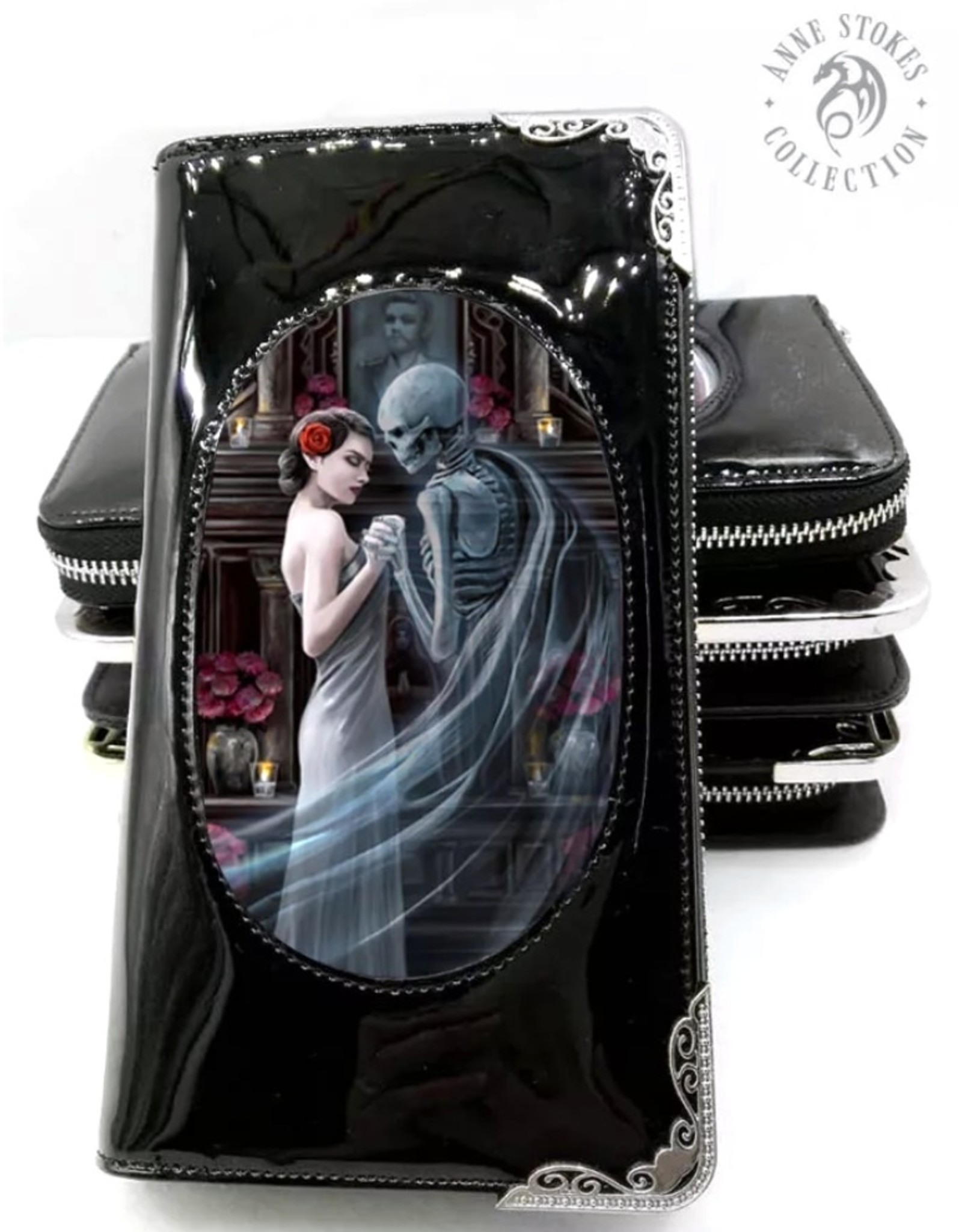 Anne Stokes Gothic wallets and purses - Anne Stokes 3D lenticular purse Forever Yours