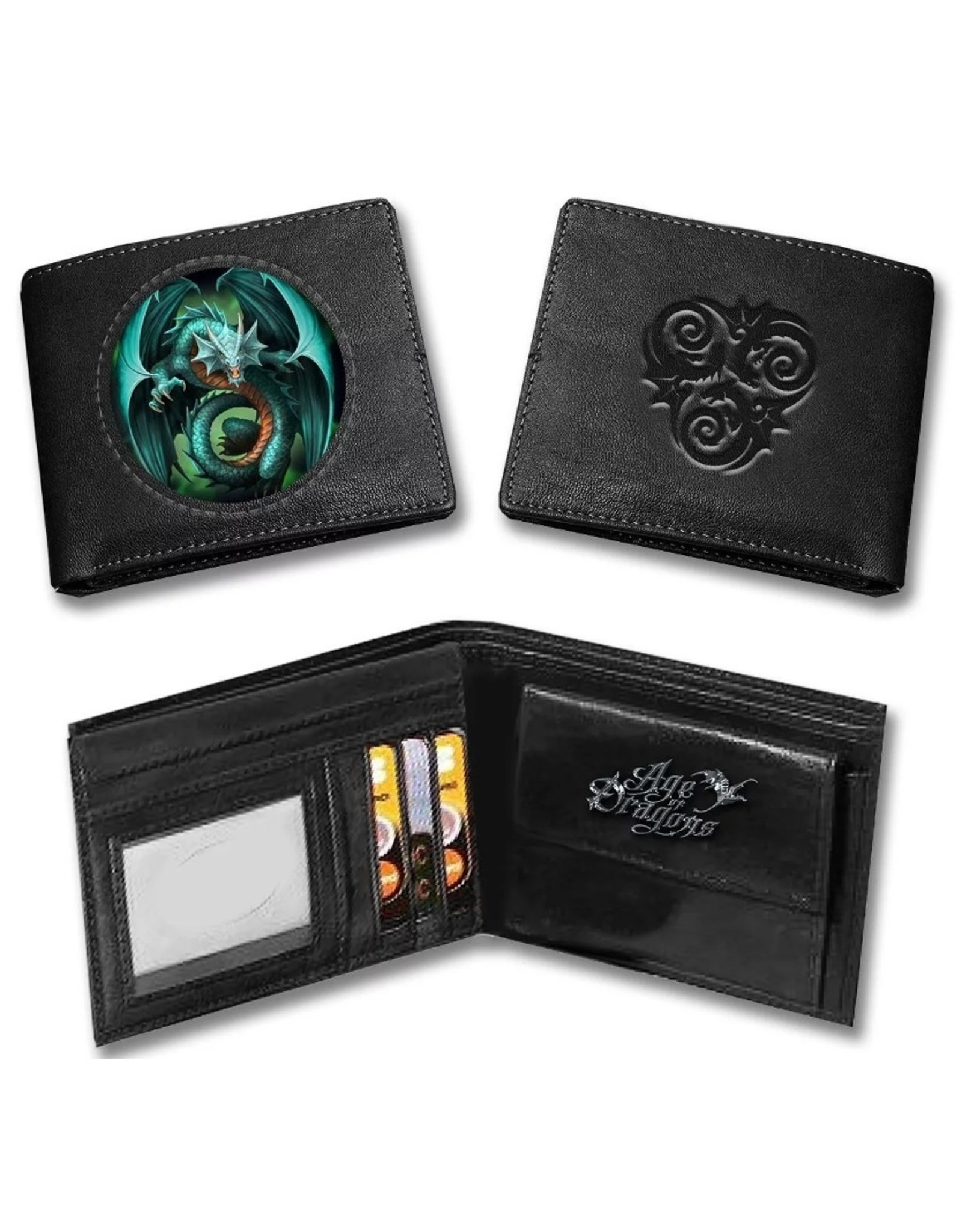 Anne Stokes Gothic wallets and purses - Anne Stokes 3D lenticular purse Tribal Dragon (Age of Dragons)