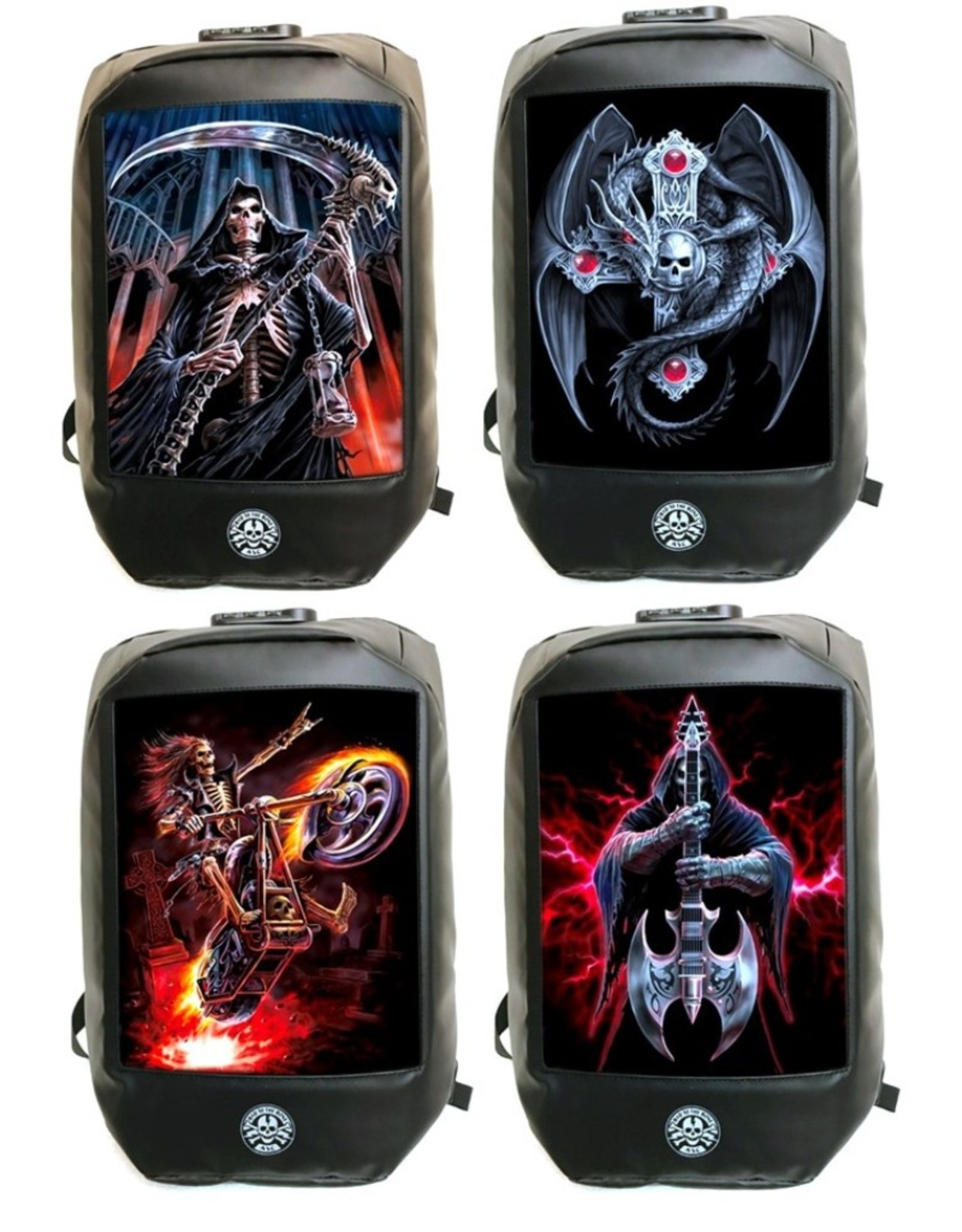 Anne Stokes Gothic bags Steampunk bags - Anne Stokes Bad to the Bone Gothic Guardian Backpack 3D