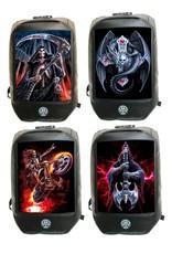 Anne Stokes Gothic tassen Steampunk tassen -  Anne Stokes Bad to the Bone Hell Rider 3D rugzak