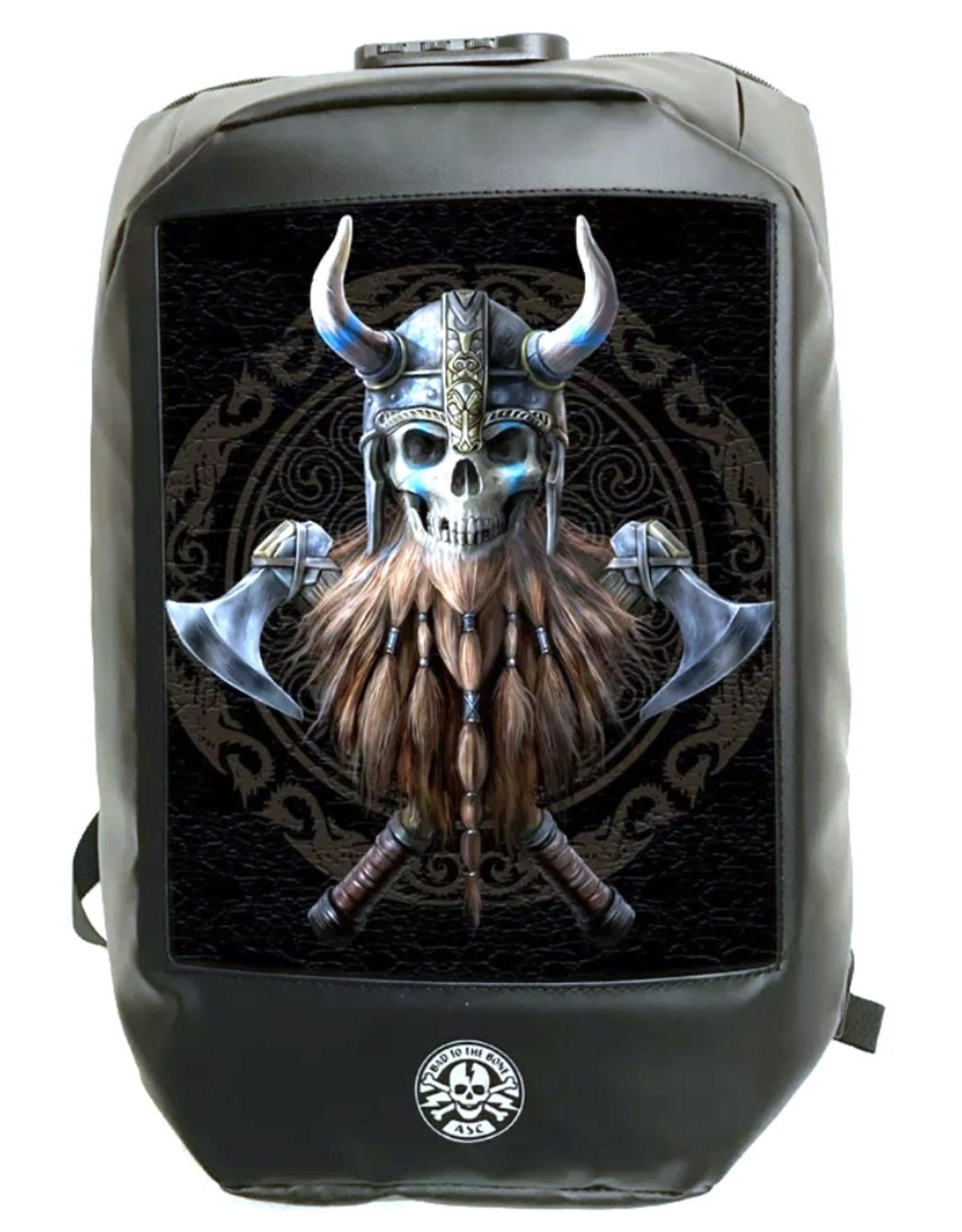 "Anne Stokes Gothic tassen Steampunk tassen -  Anne Stokes Bad to the Bone ""The Viking"" 3D Laptop rugtas"