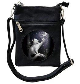 SheBlackDragon SheBlackDragon Snow Kitten 3D lenticular Mini Cross-over bag