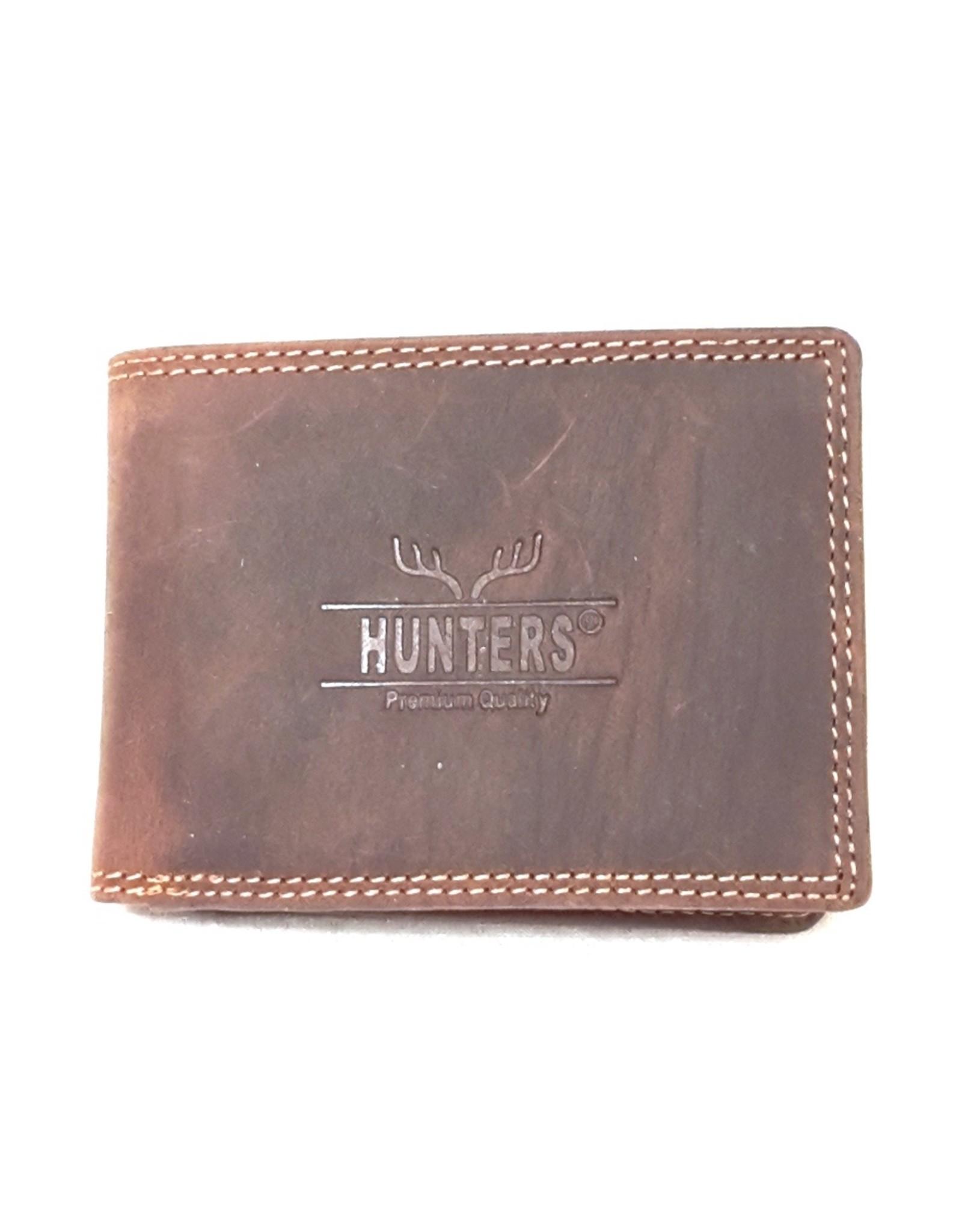 Hunters Leren Portemonnees - Leren portemonnee Hunters - Klein formaat