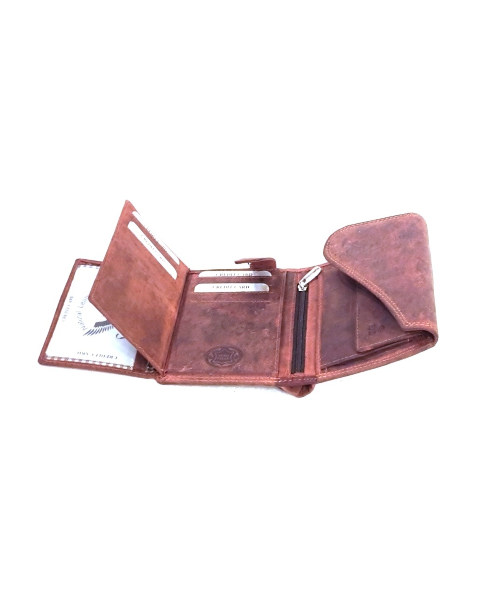 BestBull Leather Wallets - Leather wallet with golf cover Bordeaux