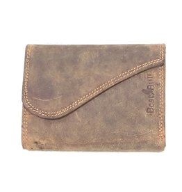BestBull Leather wallet with golf cover Brown