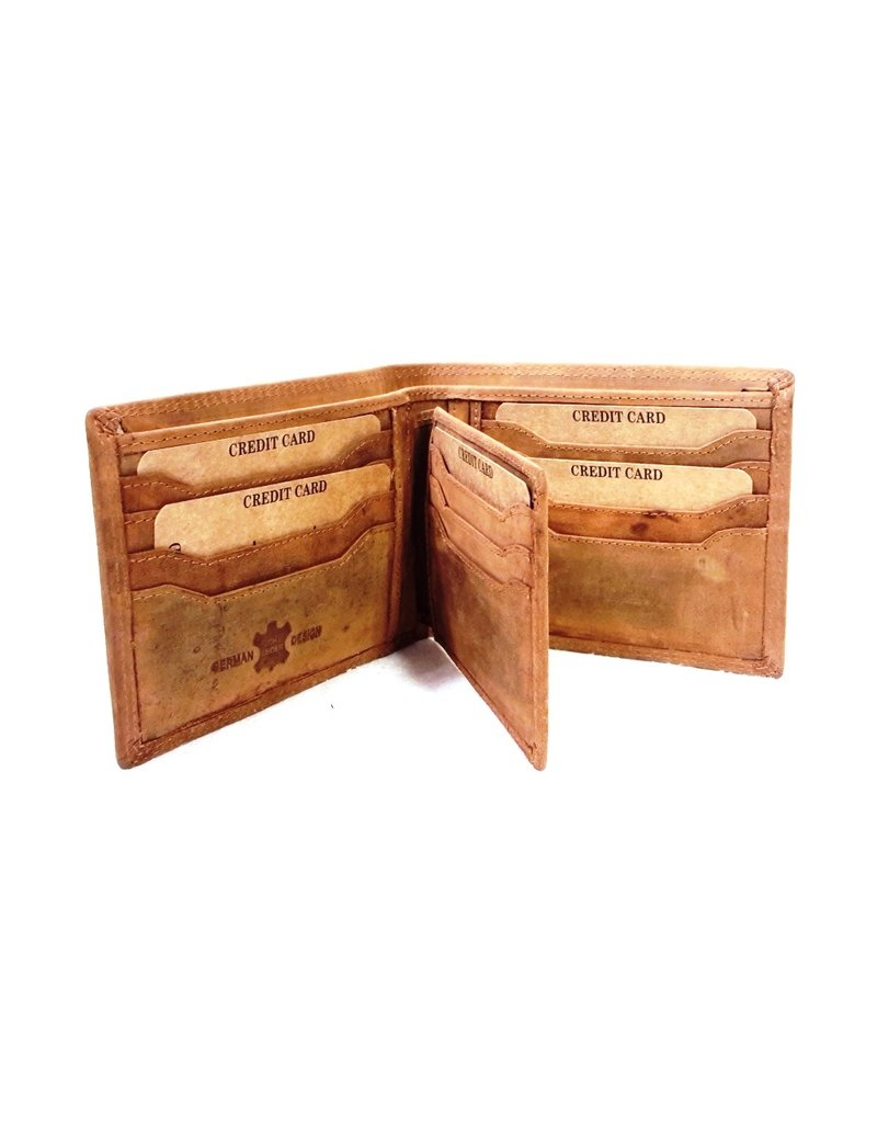 Hunters Leather Wallets -  Leather wallet Hunter light brown