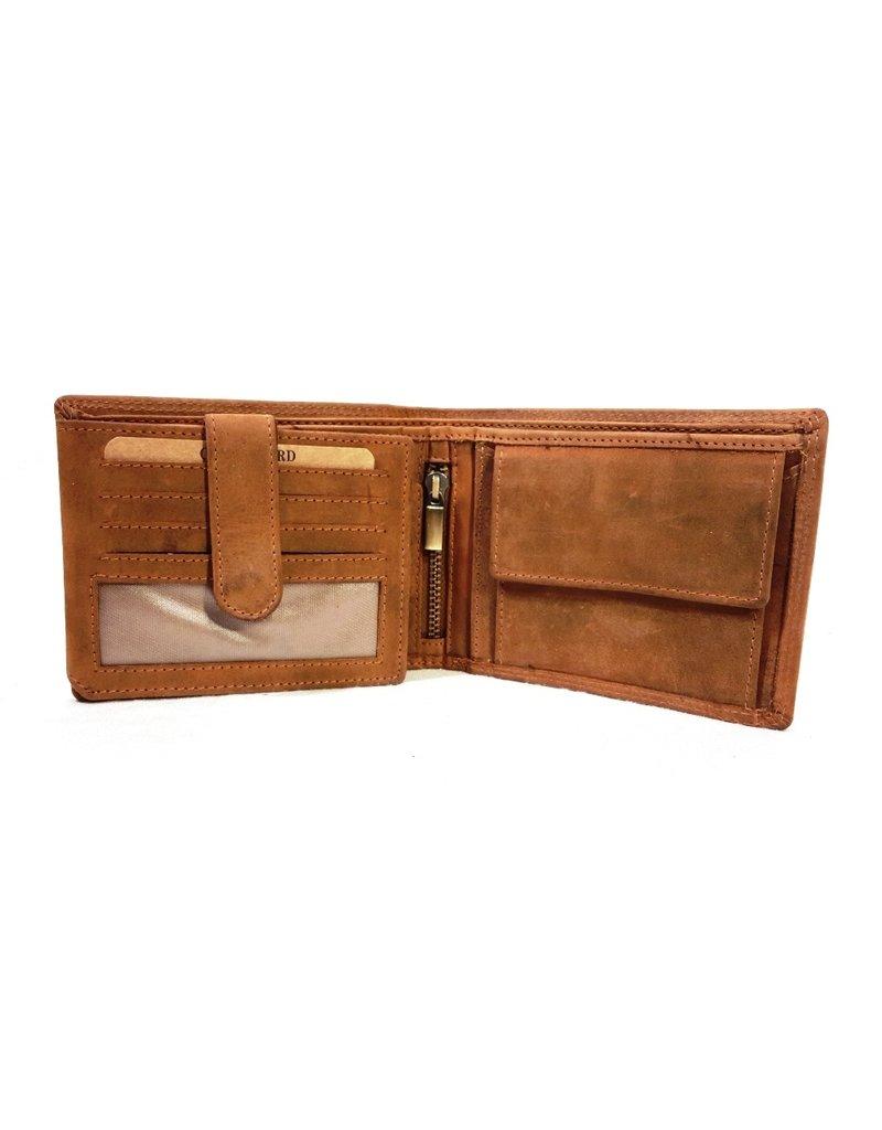 Hunters Leather Wallets -  Leather wallet Hunters light brown (cognac)