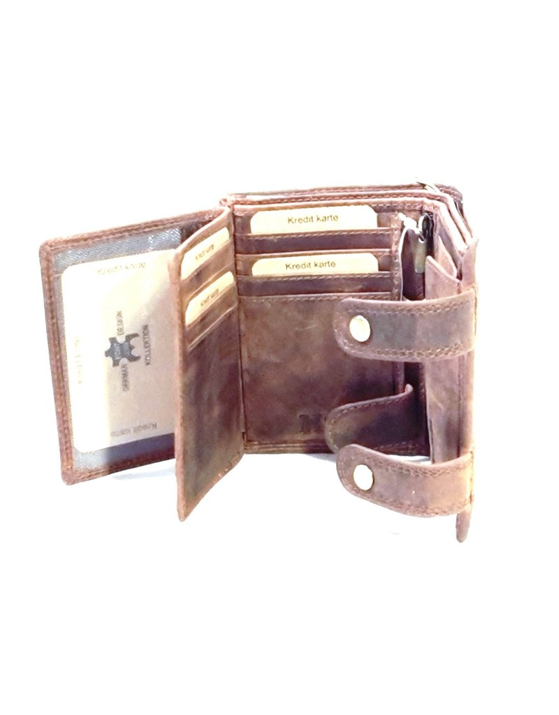 Hunt Club Leather Wallets -   Leather wallet with Embossed Motor (vertical)