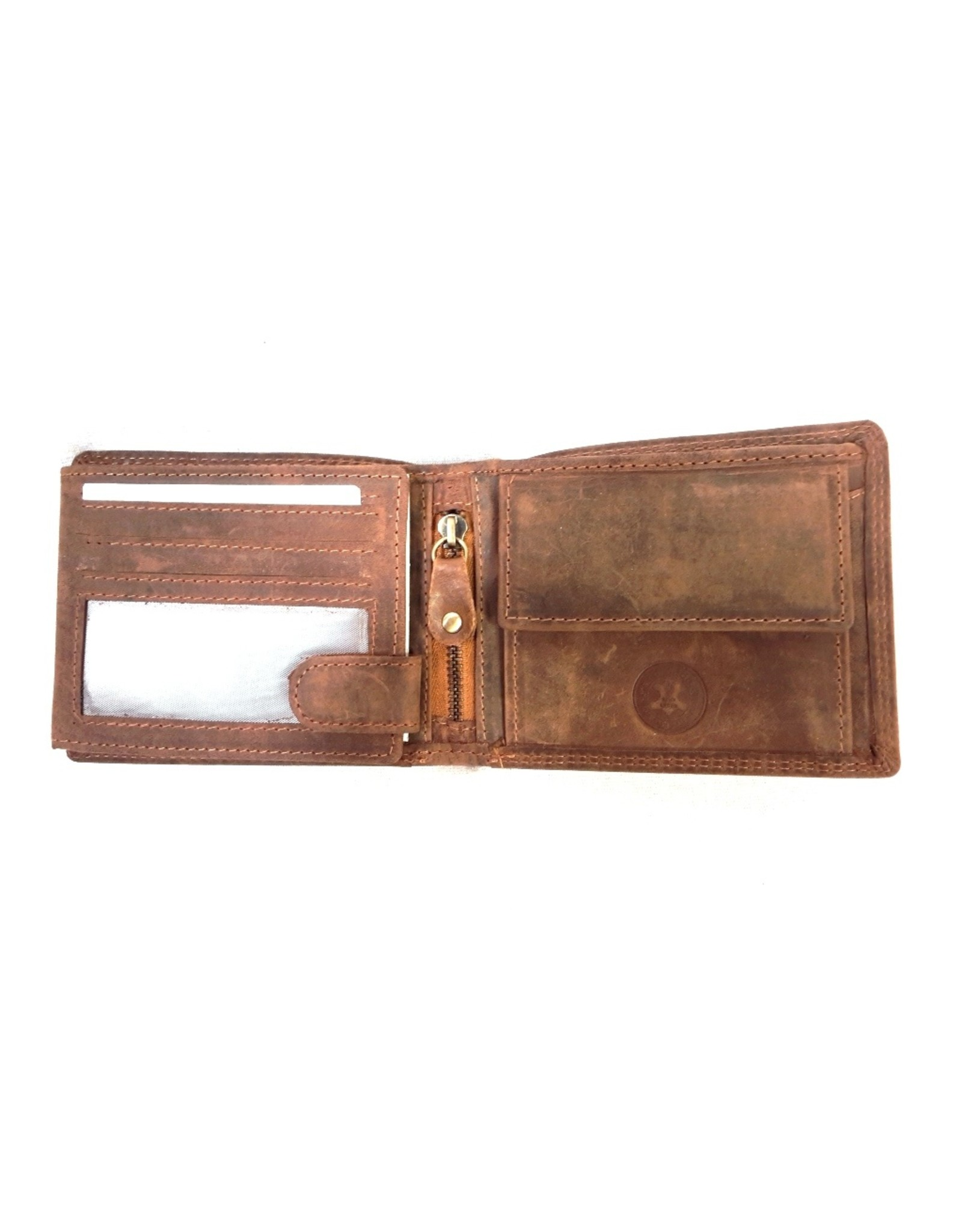 Wild Thing Leather Statement Wallets - Leather wallet Skull with Marines Beret and Wings