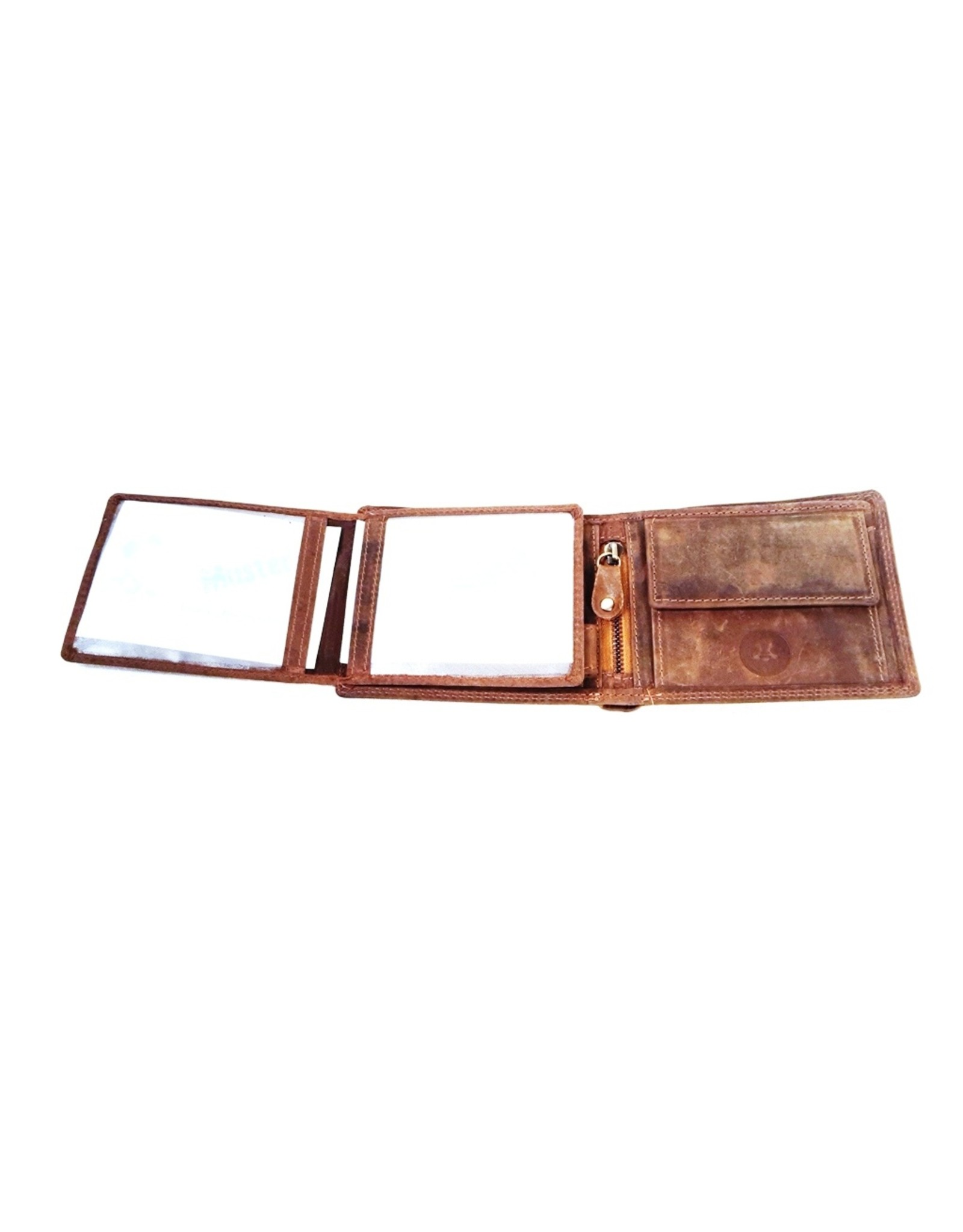 Stern Leather Statement Wallets - Leather wallet Skull with Marines Beret and Wings