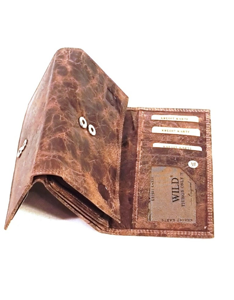 Wild Thing Leather Wallets -  Leather wallet Wild Thing Large (dark brown)