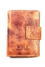 Wild Thing Leren Portemonnees - Leren portemonnee Wild Thing verticaal (lichtbruin)