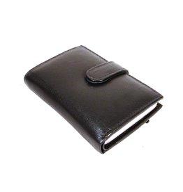 Stern Leren Mini-Portemonnee en Pasjeshouder in één zwart