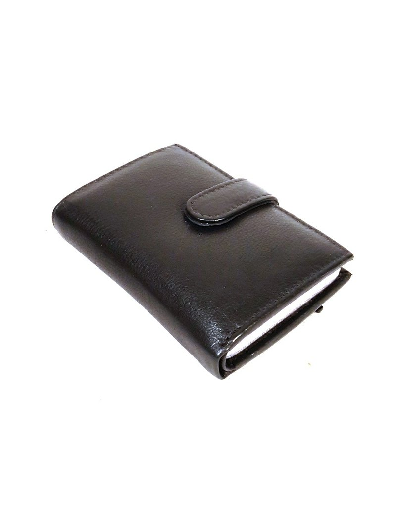 Stern  Leather Wallets - Leather mini wallet and card holder in one black