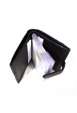 Wild Club Only  Leather Wallets - Leather mini wallet and card holder in one black