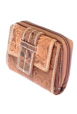 Roberto Leather Wallets -  Leather wallet with Embossed Floral pattern Roberto