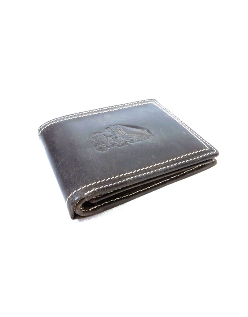 Stern Leather Wallets - Leather wallet with embossed Truck