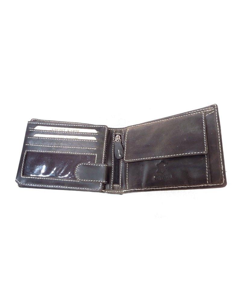 Stern Leren Portemonnees - Leren portemonnee met reliëf Vrachtwagen