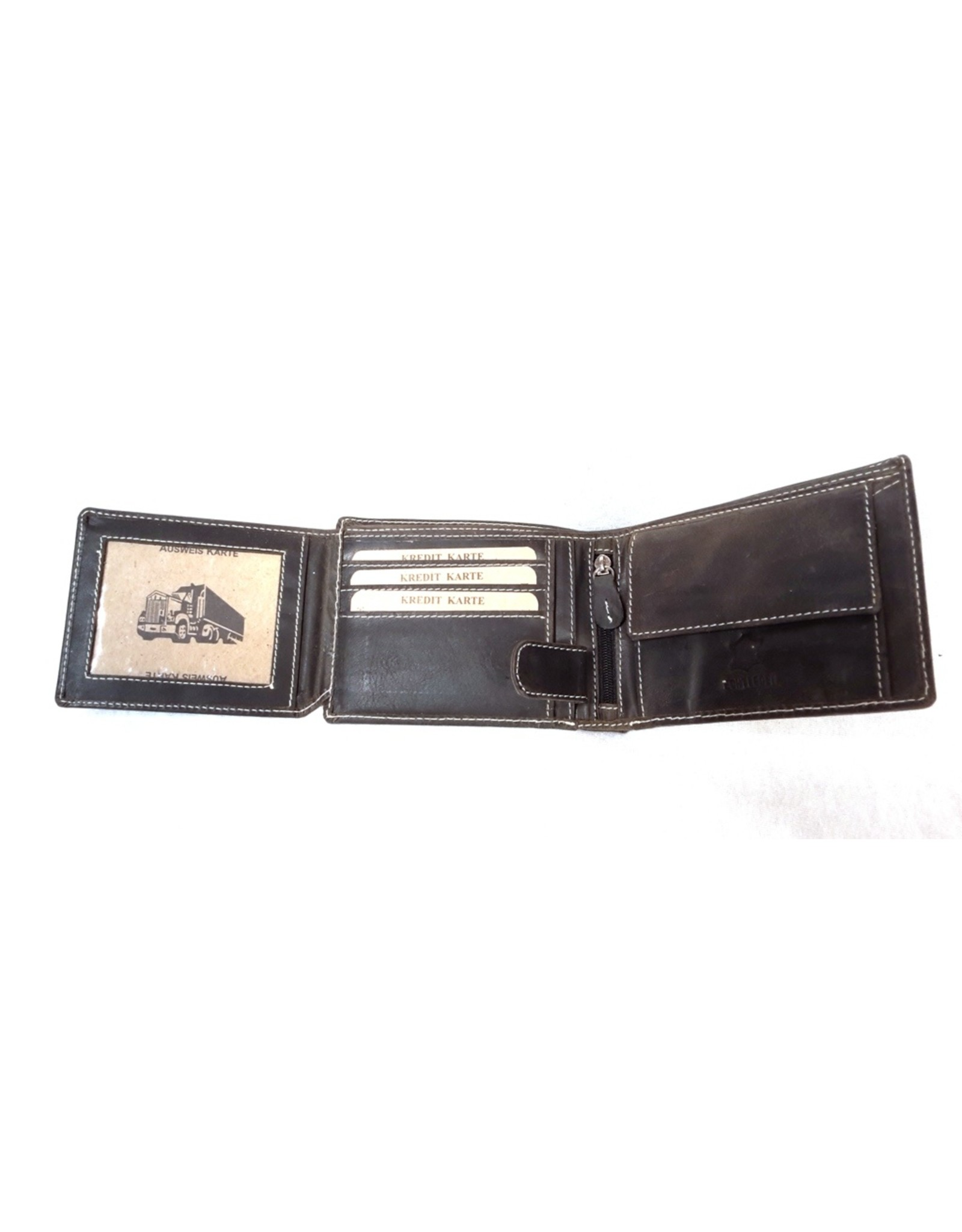 Wild Club Only Leather Wallets - Leather wallet with embossed Truck