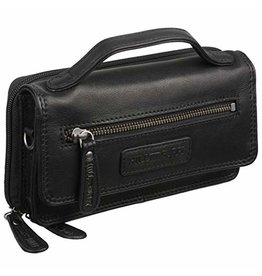 HillBurry HillBurry Leather Organizer bag (black)