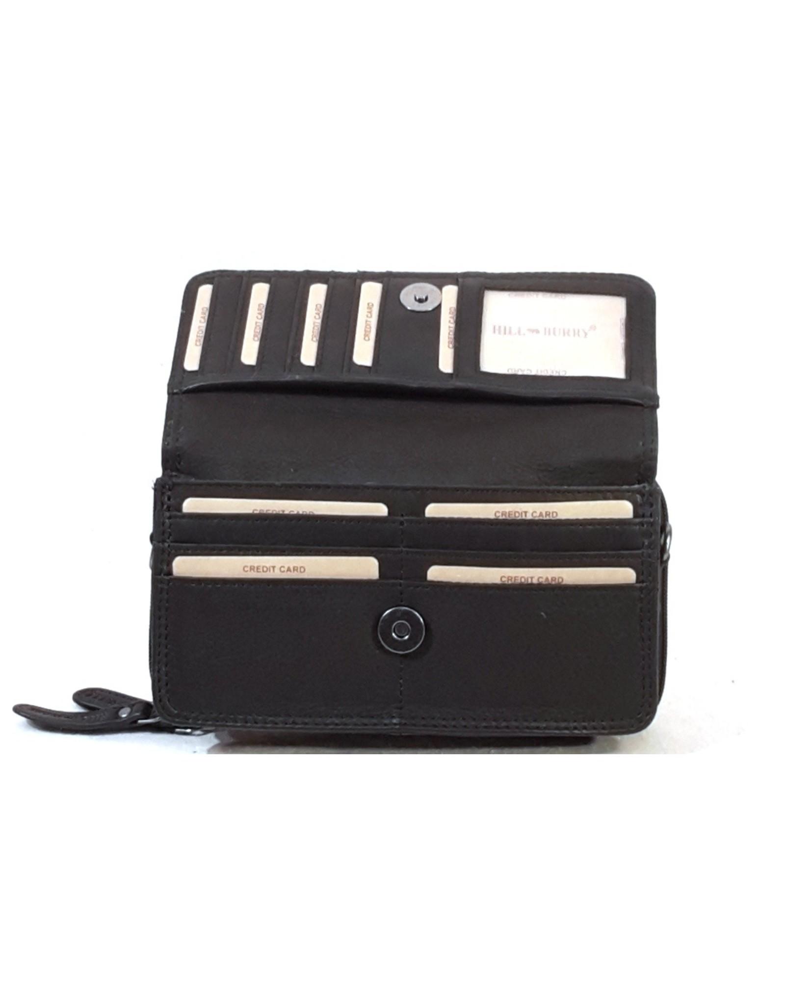 HillBurry Leather bags - HillBurry Leather Organizer bag (black)