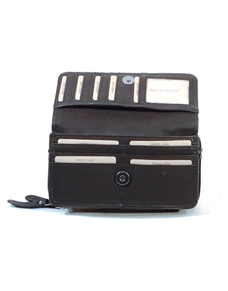 HillBurry Leather bags - HillBurry Leather Organizer bag (black)