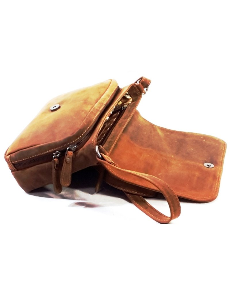 HillBurry Leather bags - HillBurry Leather shoulder bag with Organizer
