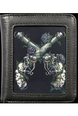 SheBlackDragon Gothic wallets and purses - SheBlackDragon 3D lenticular Shooter Wallet Grim Six