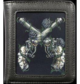 SheBlackDragon SheBlackDragon 3D portemonnee Grim Six (Guns and Roses)