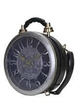 Fantasy tassen - tas met echt werkende klok antiek grijs