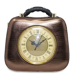 Retro tas met werkende klok