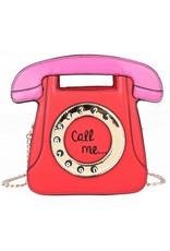 "Magic Bags Fantasy tassen en portemonnees - Fantasy handtas Retro Telefoon ""Call Me"" (rood)"