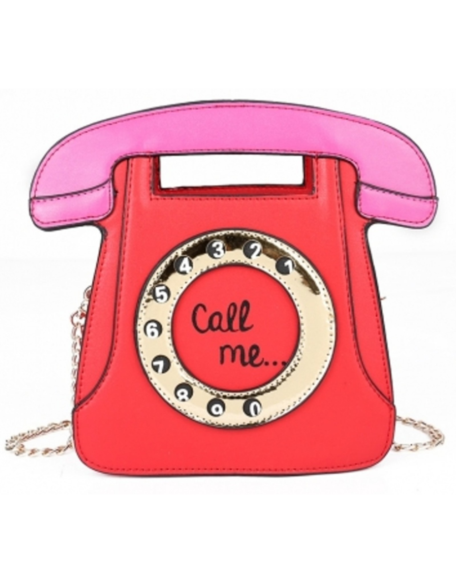 "Magic Bags Fantasy bags and wallets - Fantasy handbag Retro Telephone ""Call Me"" (red)"