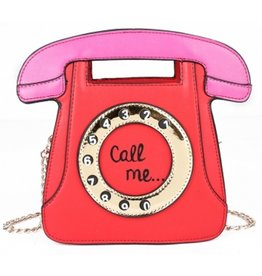 "Magic Bags Fantasy handtas Retro Telefoon ""Call Me"" (rood)"