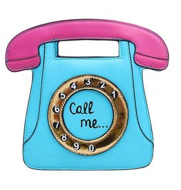 "Magic Bags Fantasy handtas Retro Telefoon ""Call Me"" (baby blue)"