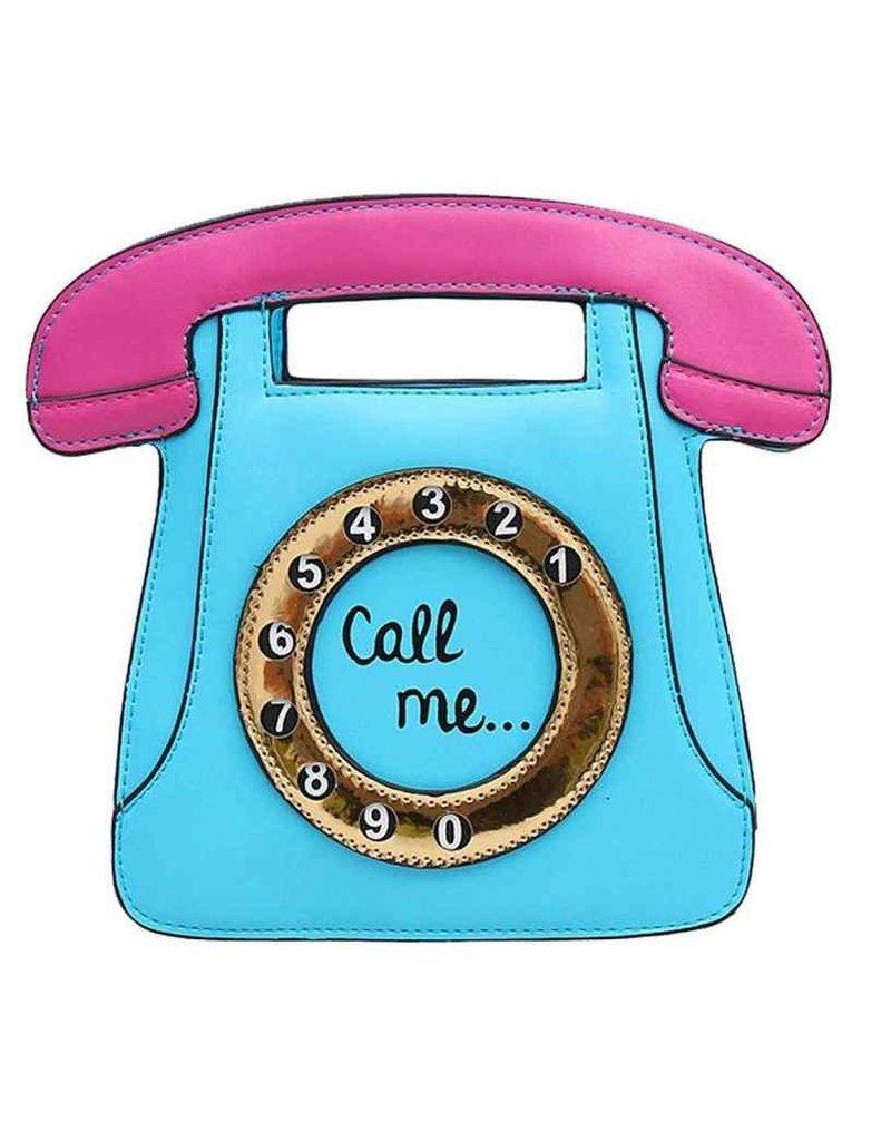 """Magic Bags Fantasy tassen en portemonnees - Fantasy handtas Retro Telefoon """"Call Me"""" (baby blue)"""