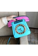 "Magic Bags Fantasy tassen en portemonnees - Fantasy handtas Retro Telefoon ""Call Me"" (baby blue)"