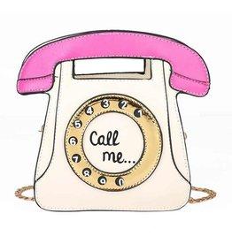"Magic Bags Fantasy handbag Retro Telephone ""Call Me"" (white-fuchsia)"