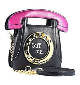 "Magic Bags Fantasy handtas Retro Telefoon ""Call Me"" (zwart)"