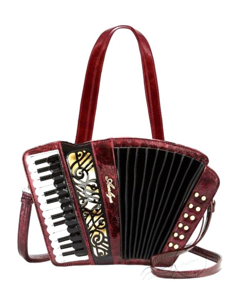 Magic Bags Fantasy tassen en portemonnees - Fantasy handtas Accordeon (metallic rood)
