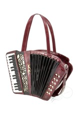 Magic Bags Fantasy tassen en portemonnees - Fantasy handtas Accordeon (metallic rood)
