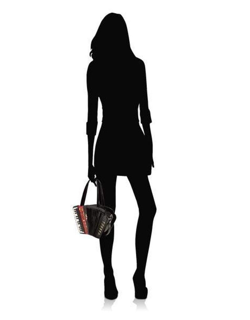 Magic Bags Fantasy bags and wallets - Fantasy handbag Accordion lacquer (black)
