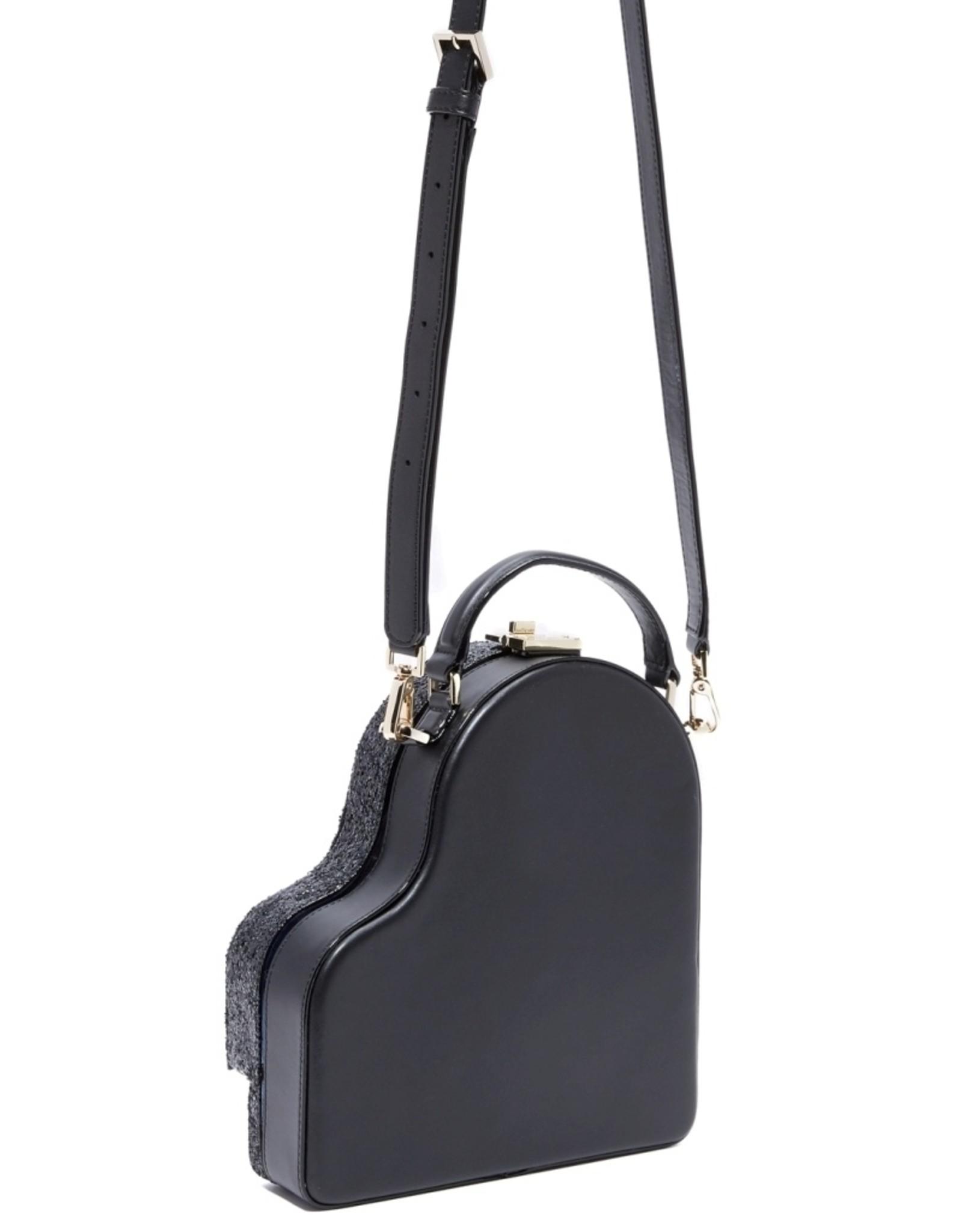 Magic Bags Fantasy tassen en portemonnees - Fantasy handtas Pianovleugel (zwart met glitter)