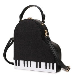 Magic Bags Fantasy handtas Pianovleugel (zwart met glitter)