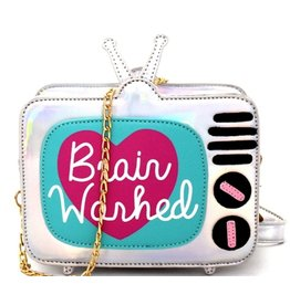 Magic Bags Holographic Fantasy crossbody bag Retro TV - Brain Washed