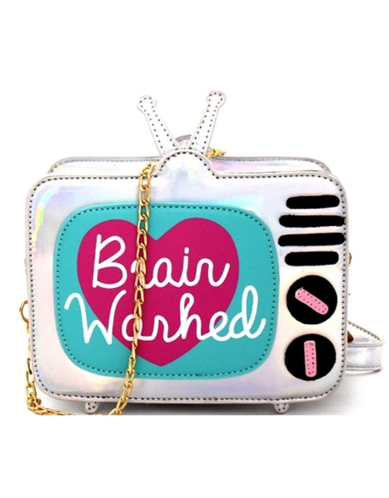 Magic Bags Fantasy bags and wallets -  Holographic Fantasy crossbody bag Retro TV - Brain Washed