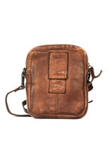 Bear Design Small leather bags, clutches and more - Bear Design shoulder bag Vikas (cognac)
