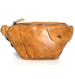 Bear Design Bear Design waist bag from washed leather Matt (ocher yellow)